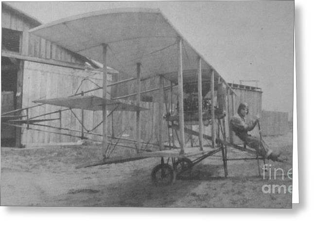 Early Aviation Greeting Card by Gwyn Newcombe