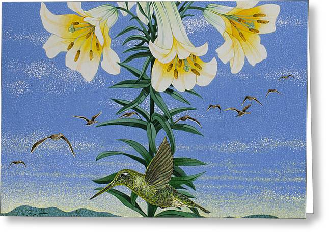Early Birds Greeting Card by Pat Scott