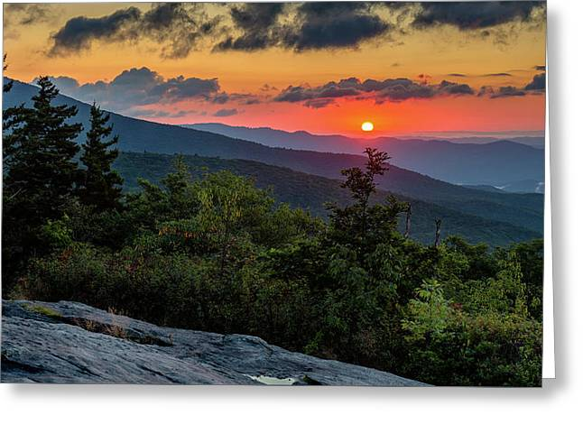 Blue Ridge Parkway Sunrise - Beacon Heights - North Carolina Greeting Card