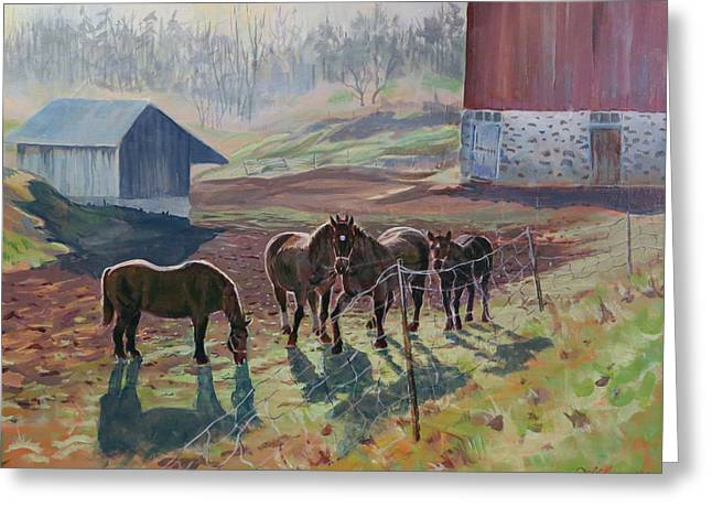 Early December At The Farm Greeting Card