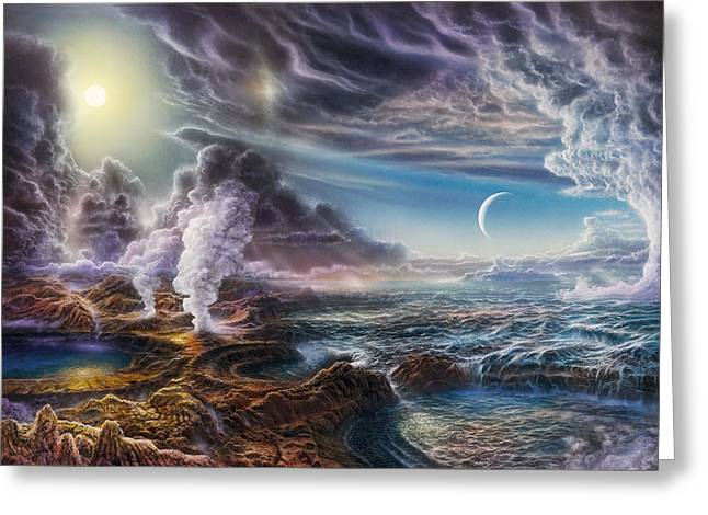 Natural Greeting Cards - Early Earth Greeting Card by Don Dixon