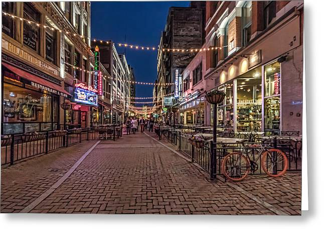 Early Evening On E. 4th Greeting Card by Brent Durken