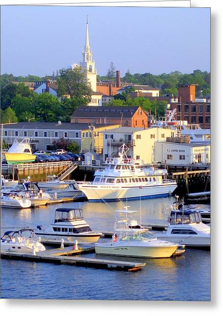 Early Evening On The Merrimack River Greeting Card