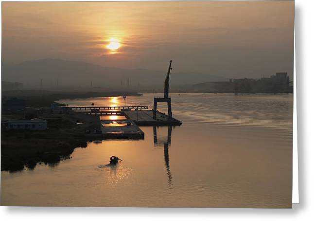 Greeting Card featuring the photograph Early Hour On The River by Lucinda Walter