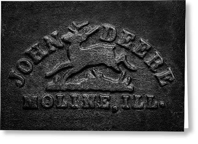 Early John Deere Emblem Greeting Card