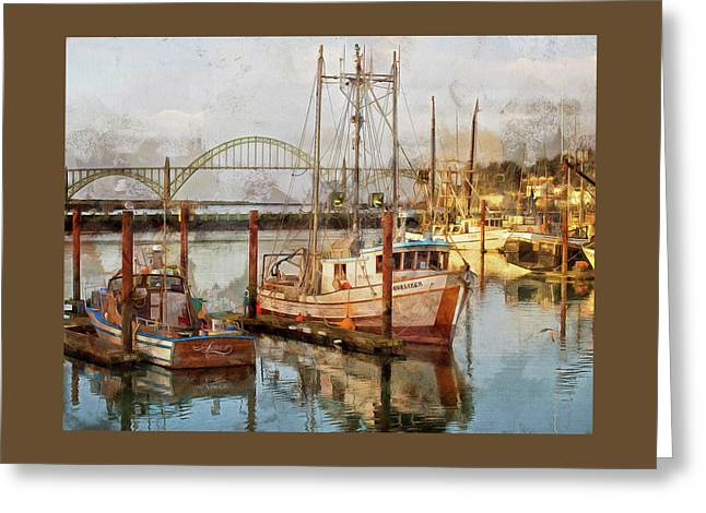 Early Light On Yaquina Bay Greeting Card