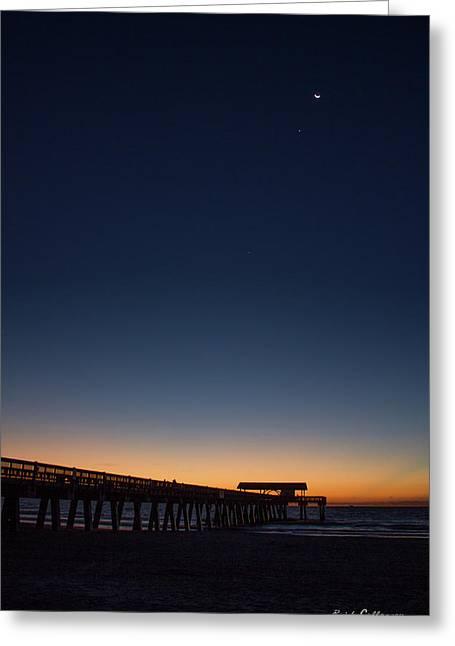 Early Light Tybee Island Pier Tybee Island Georgia Greeting Card by Reid Callaway