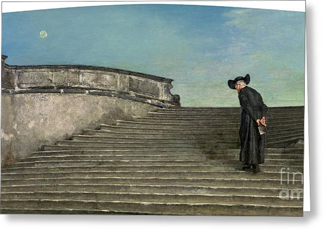 Early Mass Greeting Card by Celestial Images