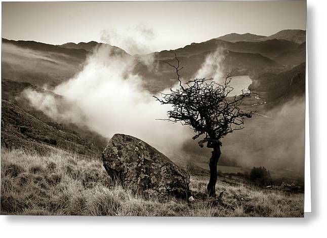 Early Mist, Nant Gwynant Greeting Card