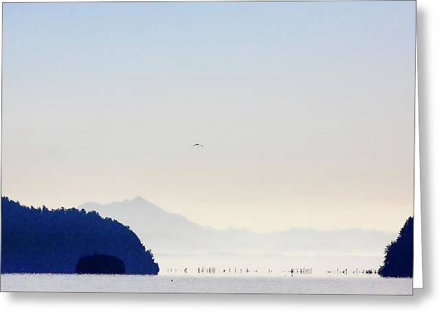 Early Morning Ala Spit Whidbey Island Greeting Card
