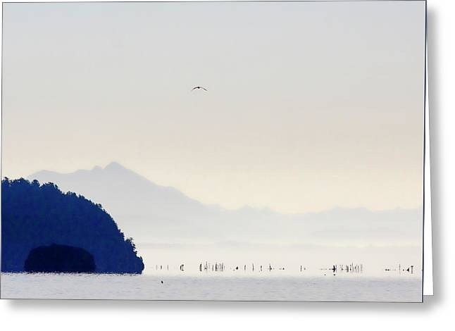 Early Morning Ala Spit Whidbey Island Square Format Greeting Card