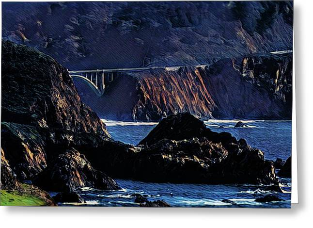 Early Morning At Bixby Creek Bridge Greeting Card by Russ Harris