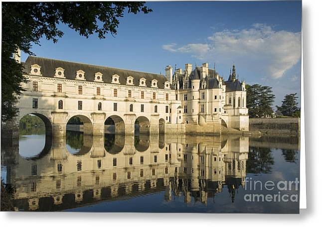 Early Morning At Chateau Chenonceau Greeting Card