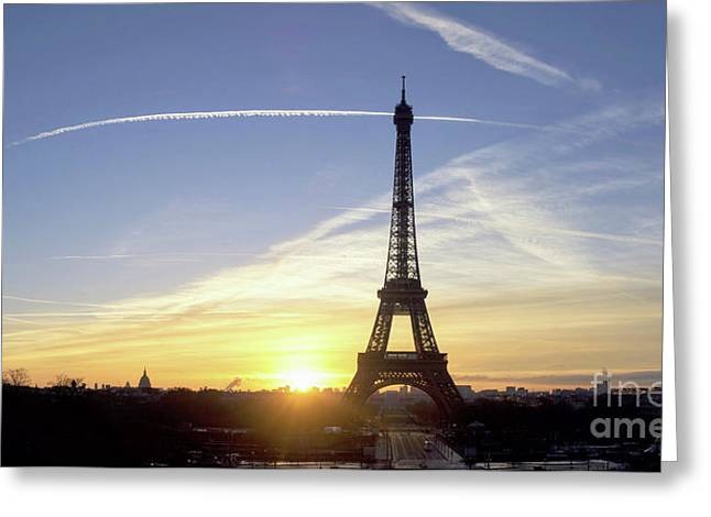 Early Morning At Eiffel Tower Greeting Card