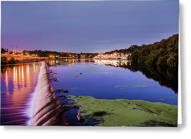Early Morning At Fairmount Dam - Philadelphia Greeting Card
