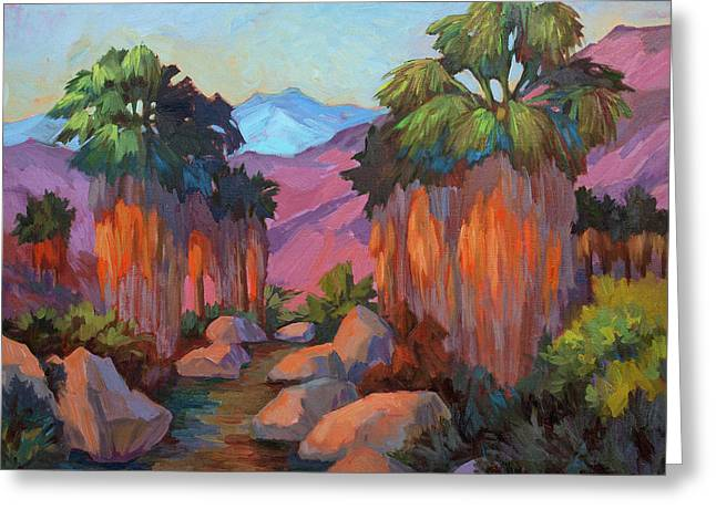 Rock Spring Trail Greeting Cards - Early Morning at Indian Canyon Greeting Card by Diane McClary