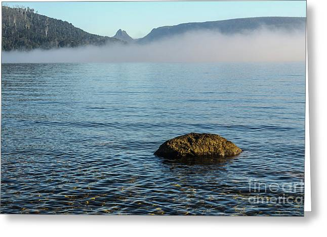 Greeting Card featuring the photograph Early Morning At Lake St Clair by Werner Padarin
