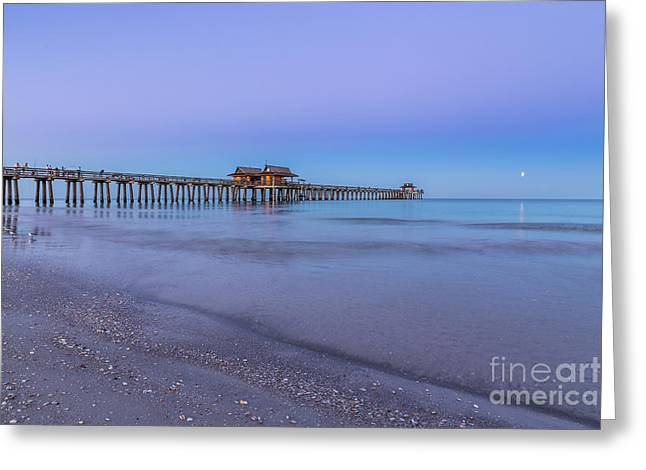 Early Morning At Naples Pier Greeting Card