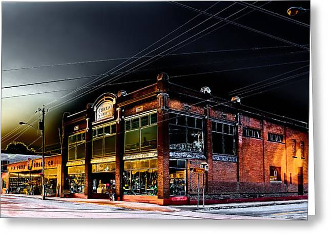 Early Morning At Old Forge Hardware Greeting Card