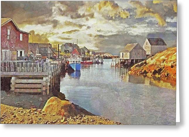Early Morning At Peggy's Cove In Nova Scotia Greeting Card