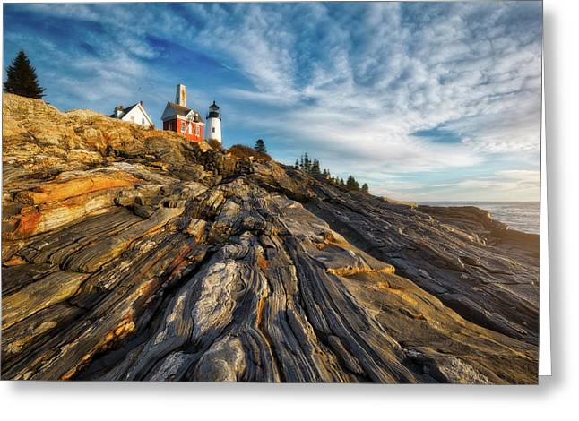Early Morning At Pemaquid Point Greeting Card by Darren White