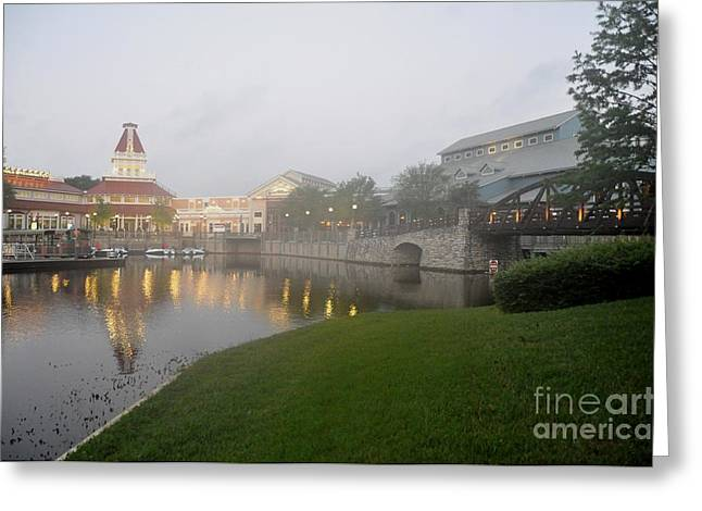 Early Morning At Port Orleans Riverside Greeting Card