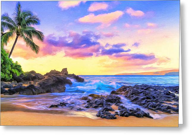 Lahaina Greeting Cards - Early Morning at Secret Cove Maui Greeting Card by Dominic Piperata