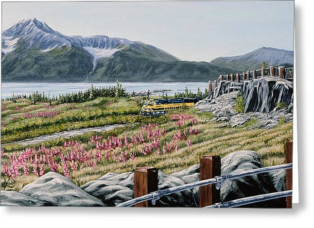 Greeting Card featuring the painting Early Morning Bird Point by Kurt Jacobson