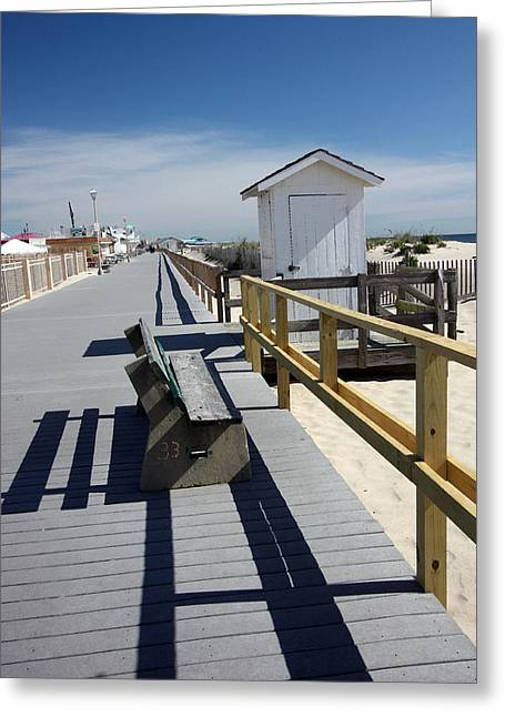 Early Morning Boardwalk Greeting Card