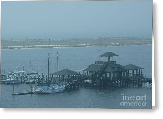 Early Morning Boats Revisited Greeting Card by Joseph Baril