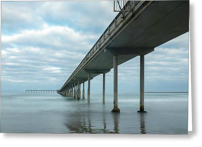 Early Morning By The Ocean Beach Pier Greeting Card