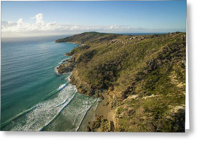 Early Morning Coastal Views On Moreton Island Greeting Card