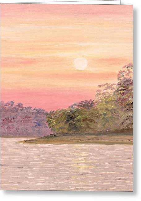 Greeting Card featuring the painting Early Morning by Elizabeth Lock