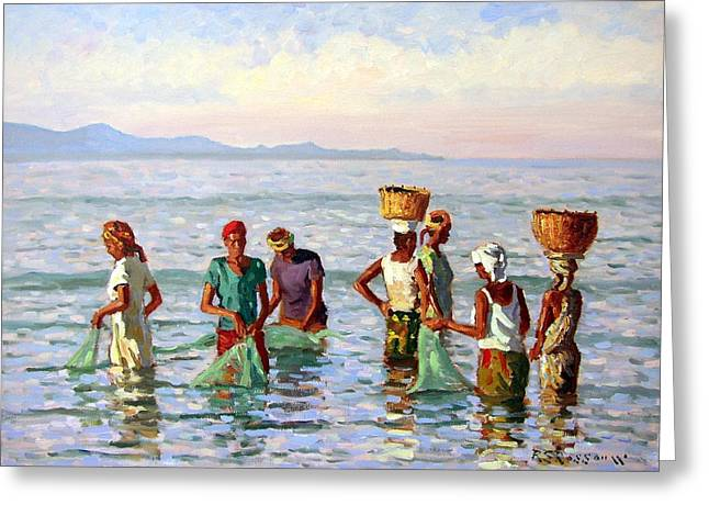 Roelof Rossouw Greeting Cards - Early Morning Fishing Greeting Card by Roelof Rossouw