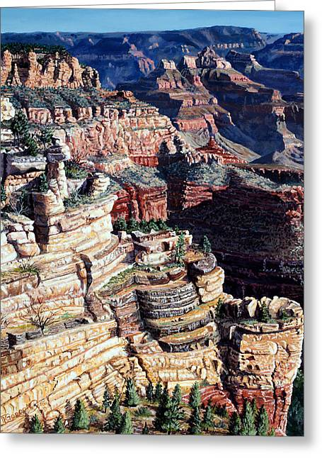 Early Morning From The South Rim Greeting Card by Timithy L Gordon
