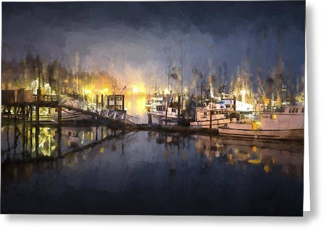 Early Morning Harbor IIi Greeting Card