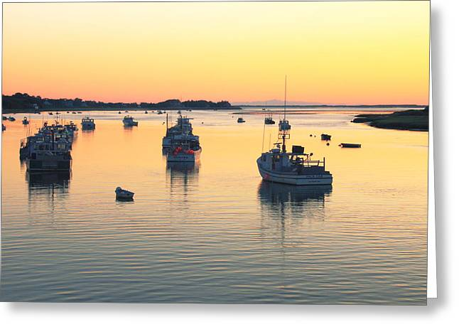 Early Morning In Chatham Harbor Greeting Card by Roupen  Baker