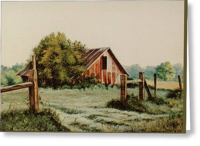 Early Morning In East Texas Greeting Card