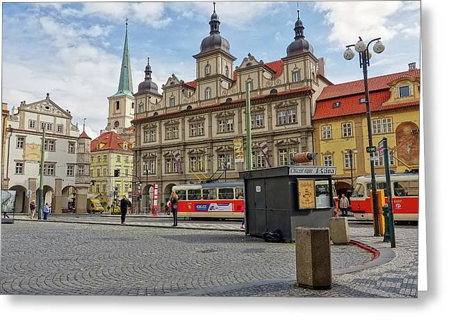 Early Morning In Prague Greeting Card