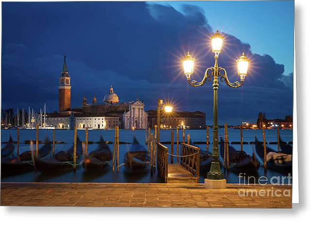Greeting Card featuring the photograph Early Morning In Venice by Brian Jannsen