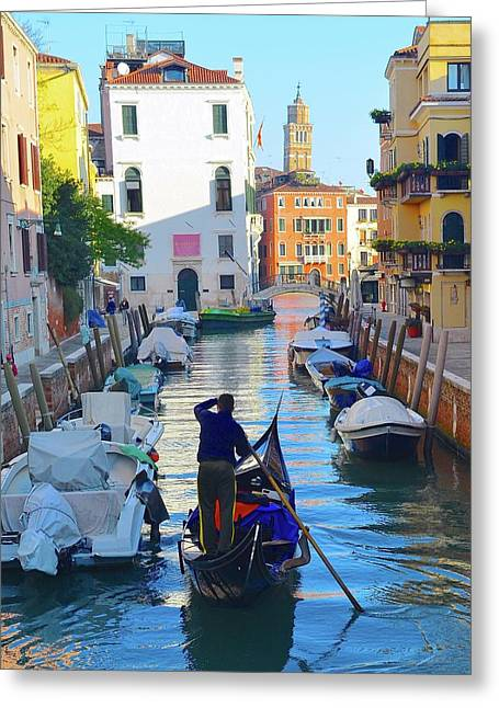 Early Morning In Venice  Greeting Card