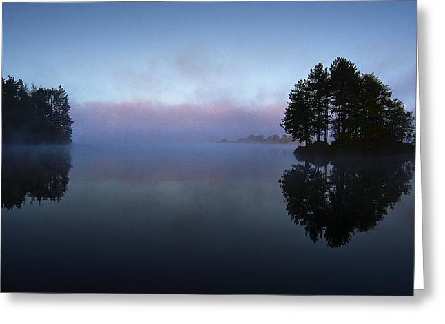 Early Morning Lake Nimisila Greeting Card