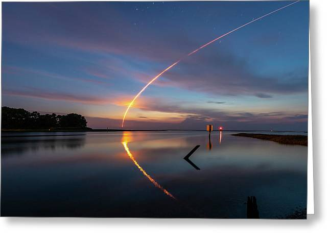 Early Morning Launch Greeting Card