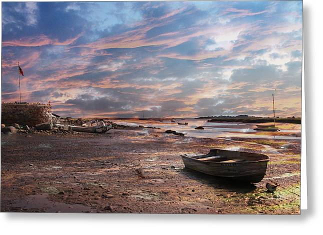 Early Morning Low Tide On The North Shore Greeting Card