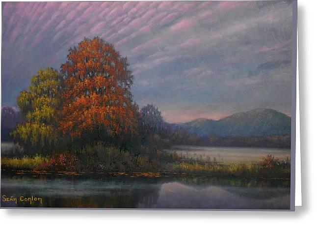 Early Morning Mist Greeting Card by Sean Conlon