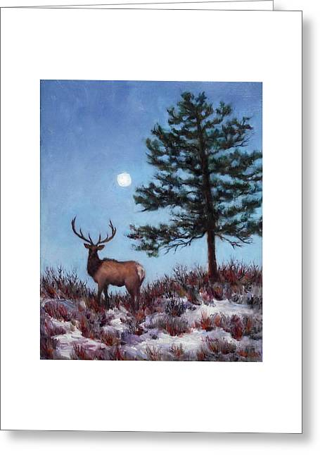 Early Morning Moon Greeting Card by Jill Musser
