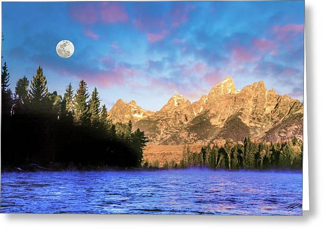 Early Morning On Snake River Greeting Card