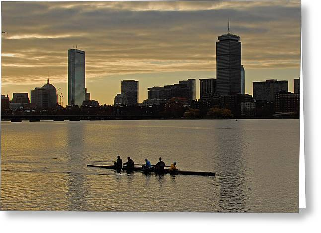 Early Morning On The Charles River Greeting Card