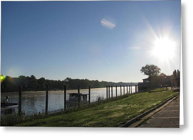 Early Morning On The Savannah River Greeting Card by Donna Brown