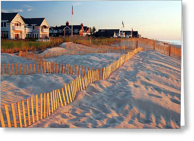 Early Morning On The Shore Greeting Card